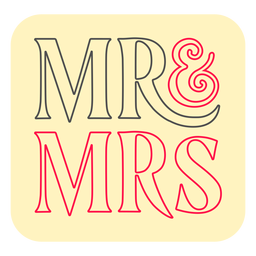 Mr and mrs badge