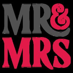Letras de Sr. e Sra.