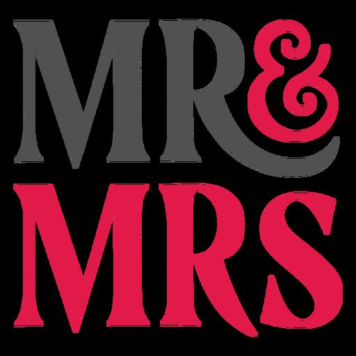 Herr und Frau Schriftzug