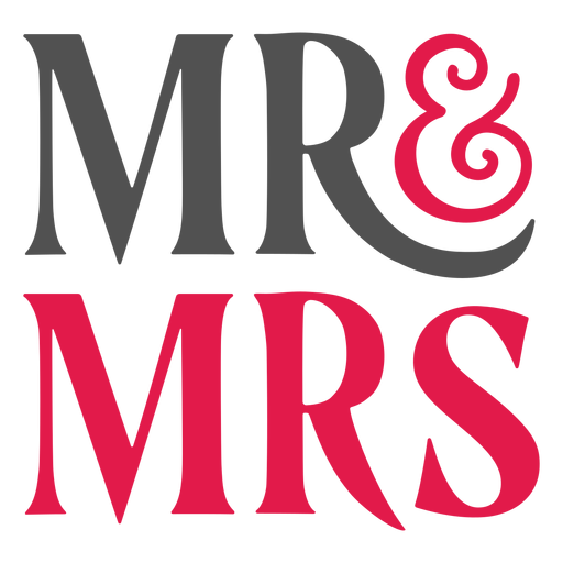 Mr and mrs lettering