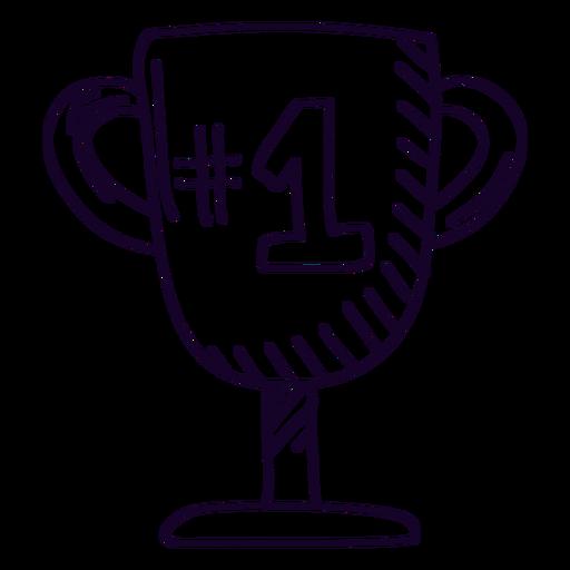 Number 1 trophy doodle