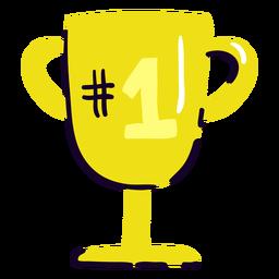 Trofeo número 1 plano