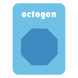 Octogon shape flashcard