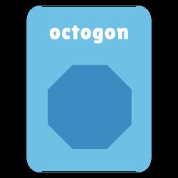 Tarjeta de forma octogonal