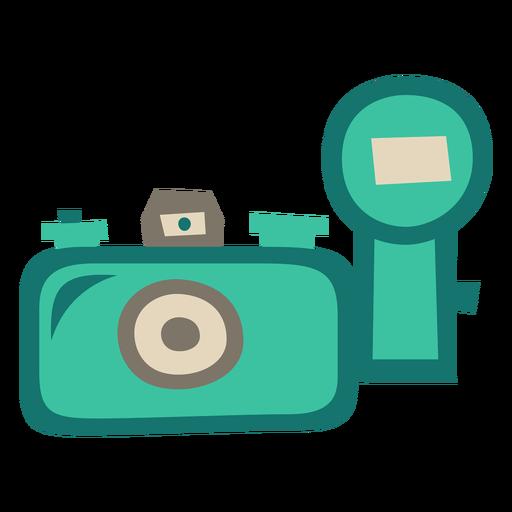 Old camera external flash flat
