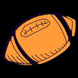 Mão de futebol laranja desenhada