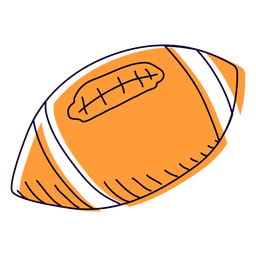 Orange football hand drawn