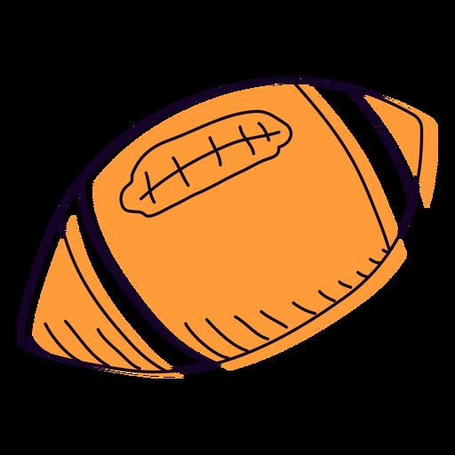 Orange football hand drawn Transparent PNG