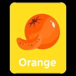 Tarjeta de vocabulario naranja