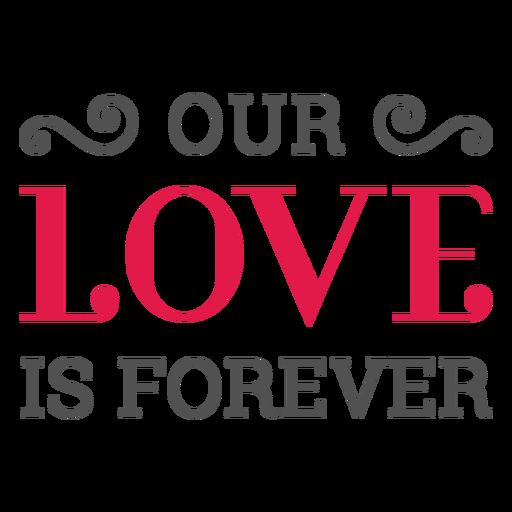 Nosso amor está sempre rotulando