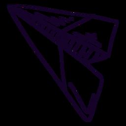 Doodle de avión de papel