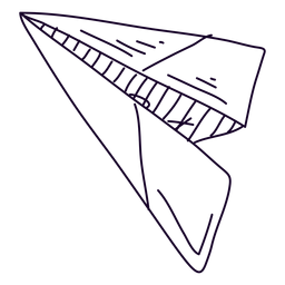 Papier Flugzeug Gekritzel