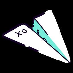 Avión de papel plano