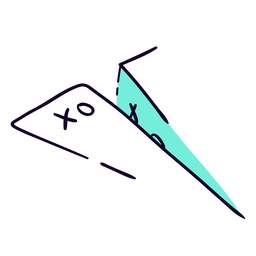 Paper airplane flat