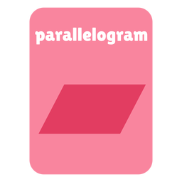 Cartão de forma paralelogramo