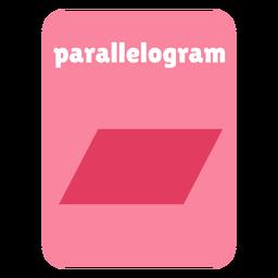 Tarjeta de forma de paralelogramo