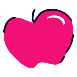 Pink apple flat