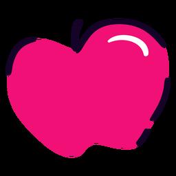 Rosa Apfel flach