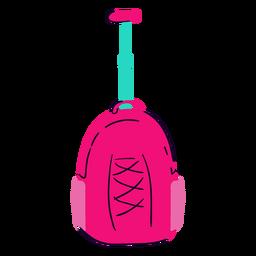 Mochila escolar rosa plana