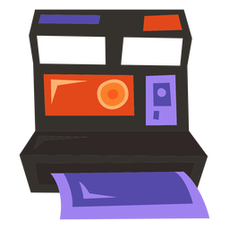 Cámara Polaroid plana