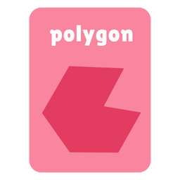 Polygon shape flashcard