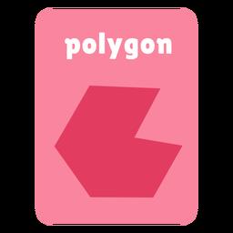Tarjeta de forma poligonal
