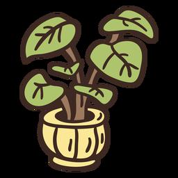 Ilustración de la planta de potus