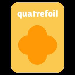 Quatrefoil shape flashcard
