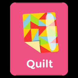 Flashcard de vocabulario de quilt