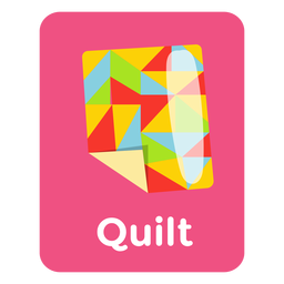 Quilt vocabulary flashcard