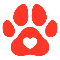 Red dog footprint flat