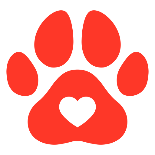 Red dog footprint flat Transparent PNG