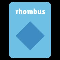 Rhombus shape flashcard