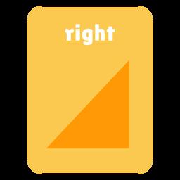 Right shape flashcard