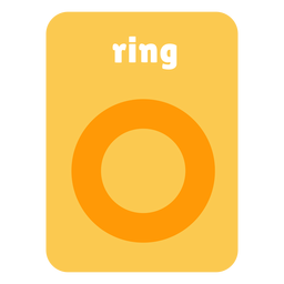 Ring shape flashcard