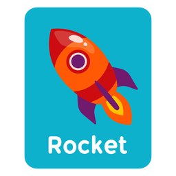 Tarjeta de vocabulario de cohetes