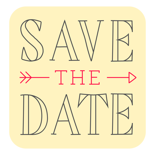 Save the date badge marriage