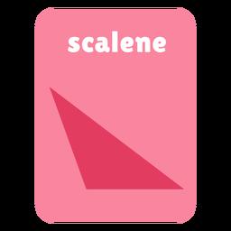 Scalene shape flashcard