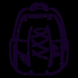 Doodle de mochila escolar