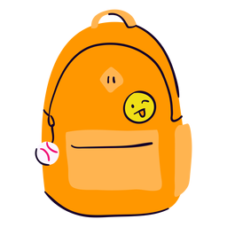 School backpack flat