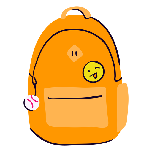 School backpack flat Transparent PNG