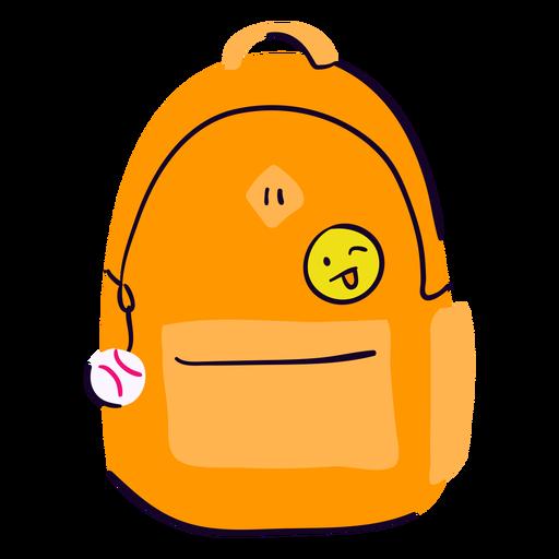 School backpack flat Transparent PNG
