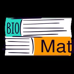 Livros escolares planas