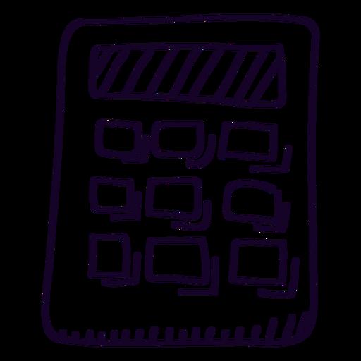 Calculadora escolar calculadora doodle Transparent PNG