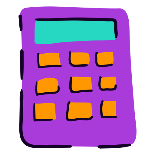 School calculator flat Transparent PNG