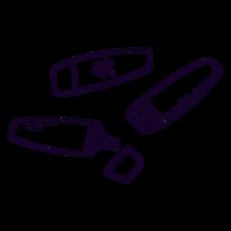 Marcadores de escola doodle