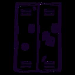 School locker doodle
