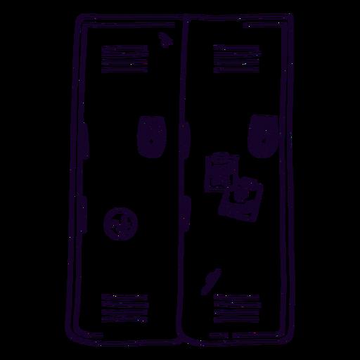 School locker doodle Transparent PNG