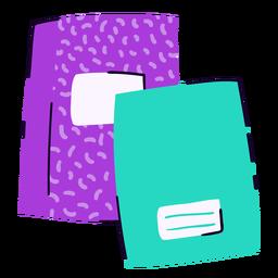 Cuadernos escolares planos
