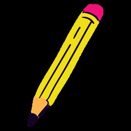 School pencil flat